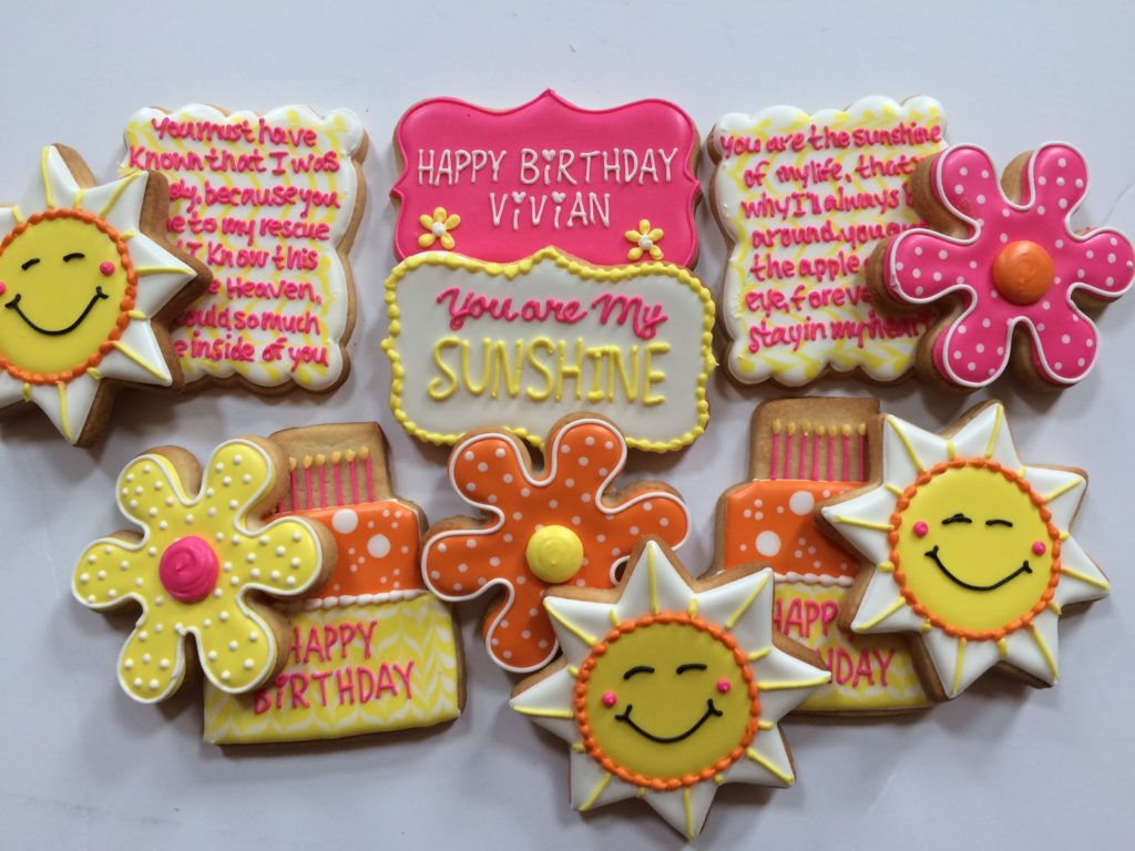 You Are My Sunshine Cookie Set Jillybeans Cookies